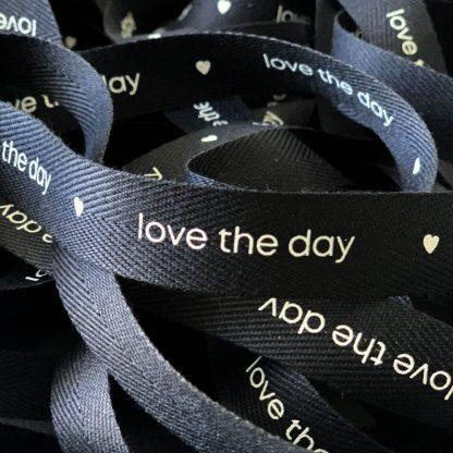 Geschenkband Ribbon love the day
