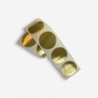 Aufkleber Sticker Gold round