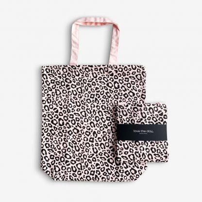 cottonbag Tragetasche Baumwolltasche Leopardenmuster
