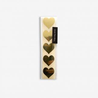 Aufkleber Sticker heart gold