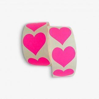 Aufkleber sticker heart neonpink