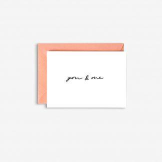 you & me with envelope